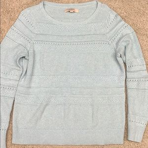 Loft blue sweater.  Size Large.